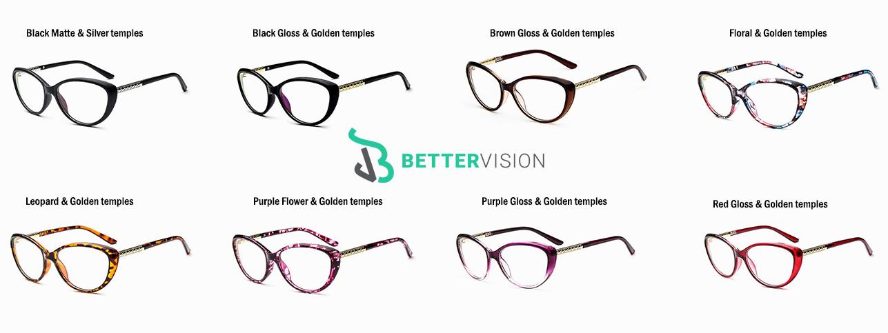 Computer Glasses Cat Eye 8 colors